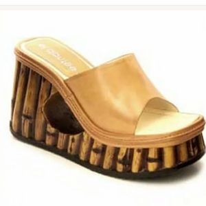 546d77844b0 El Dantes slip on sandal platform shoes festival